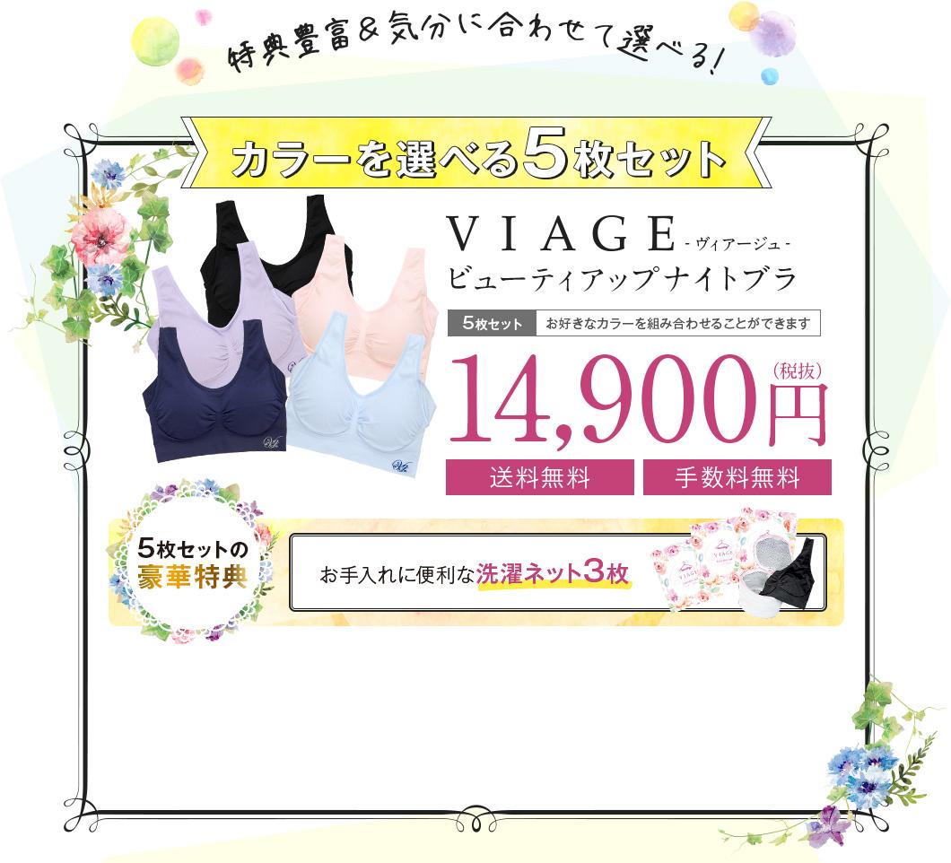VIAGE ビューティアップナイトブラ 全5色まとめ買いセット